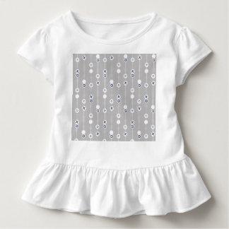 Blue on Gray Retro Fruit Slices Toddler T-Shirt