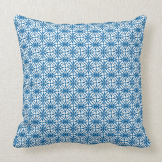Blue on White Dun Huang Buddhist Floral Cushion