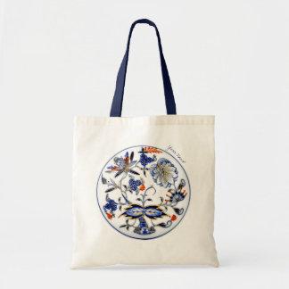 Blue Onion Vintage China Pattern Tote Bag