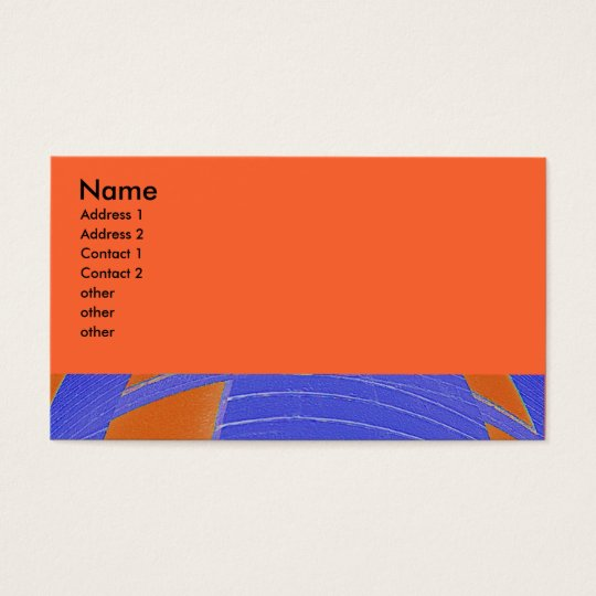 blue orange abstract business card