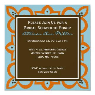Blue, Orange, and Brown Invitation
