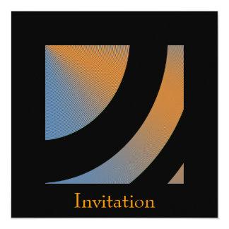 Blue Orange Black Orbit Event Party 2 13 Cm X 13 Cm Square Invitation Card