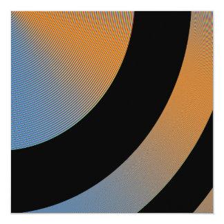Blue Orange Black Orbit Event Party 13 Cm X 13 Cm Square Invitation Card