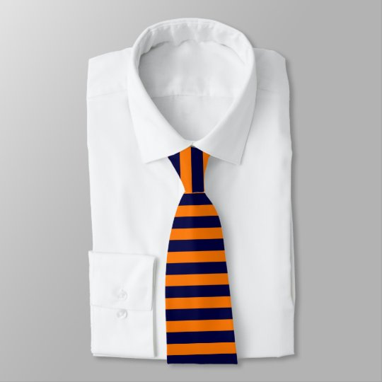 Blue & Orange Brigade Horizontally-Striped Tie