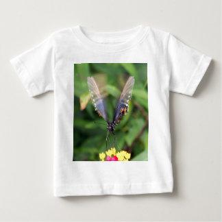 Blue Orange Butterfly In Flight Baby T-Shirt