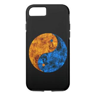 Blue Orange Fire Yin Yang iPhone 7 Case