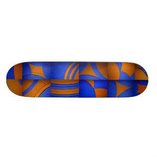 Blue & Orange Kaleidoscope Skateboard Skateboards