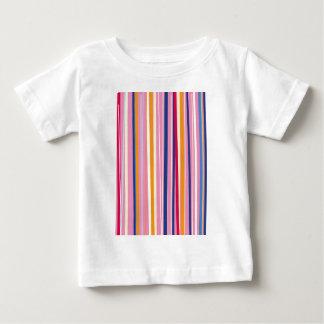 Blue Orange on Pink Stripes Baby T-Shirt