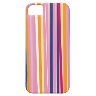 Blue Orange on Pink Stripes Barely There iPhone 5 Case