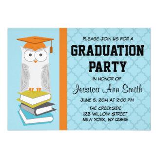 Blue/Orange Owl Graduation Announcement