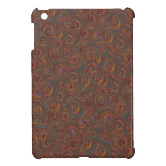 blue orange paint swirls i-pad min case iPad mini covers