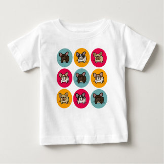 Blue Orange Pink Frenchie Baby T-Shirt