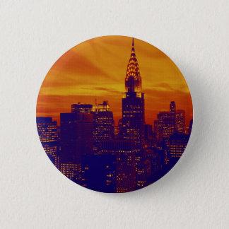 Blue Orange Pop Art New York City 6 Cm Round Badge