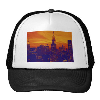 Blue Orange Pop Art New York City Hats
