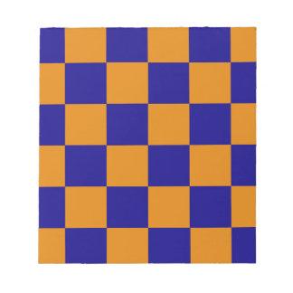 blue orange squares pattern notepad