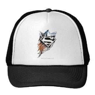 Blue-Orange Superman Logo Trucker Hats