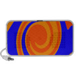 Blue Orange Swirl Mp3 Speaker