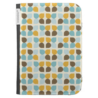 Blue Orange Tan Fall Colors Leaf Pattern Cases For Kindle