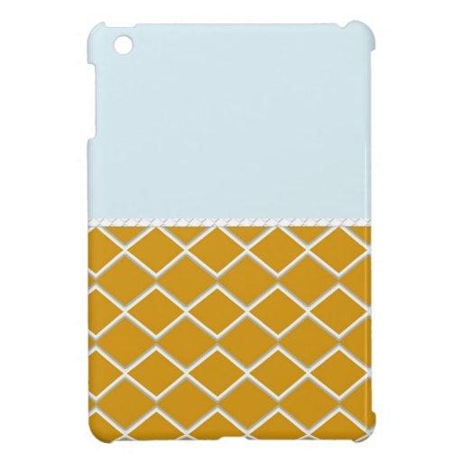 Blue Orange Zigzag iPad Mini Covers