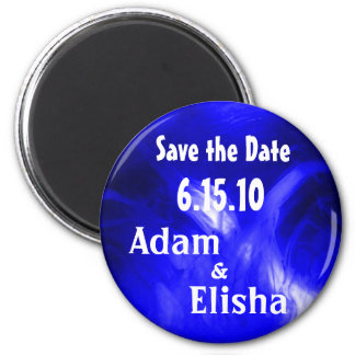 Blue Orb Save the Date Magnet