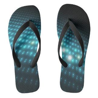 Blue Orbs 3D Flip Flops