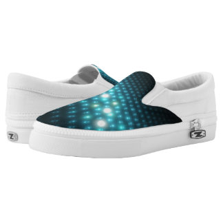 Blue Orbs 3D Slip On Shoes