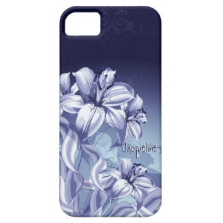 Blue Orchid Barely There iPhone 5 Case