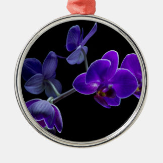 Blue orchid christmas ornament