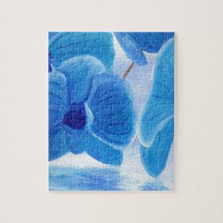 Blue Orchid elegant classy sophisticated joy Jigsaw Puzzle