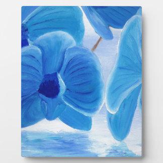 Blue Orchid elegant classy sophisticated joy Plaque