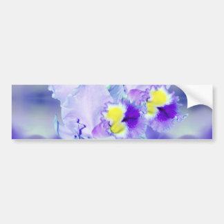 Blue Orchid flowers Bumper Sticker