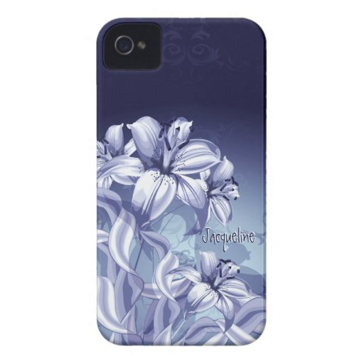 Blue Orchid iPhone  4 Case iPhone 4 Cases