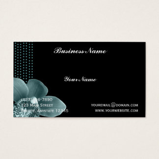 Blue Orchid on Black Business Card