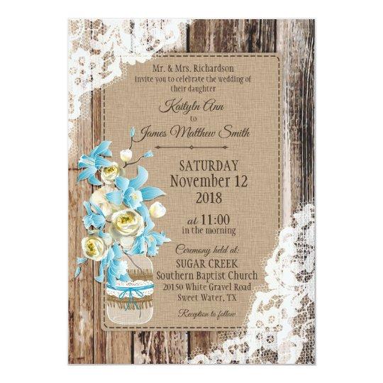 the blue orchid wedding invitation zazzlecouk