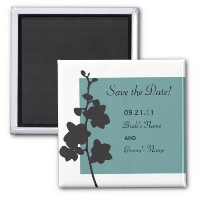 Blue Orchid Save the Date Magnet by designaline Blue Orchid Save the Date