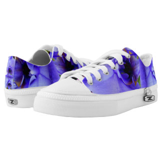 Blue Orchids Low Tops