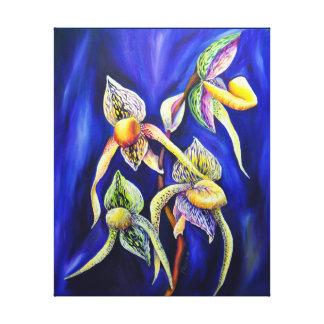 Blue orchids  painting canvas print