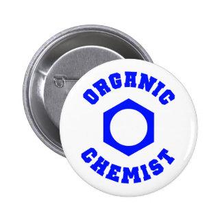 Blue Organic Chemist Button