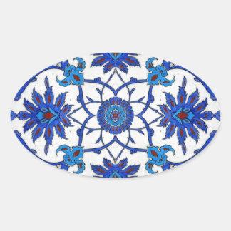 Blue Orient Oval Sticker