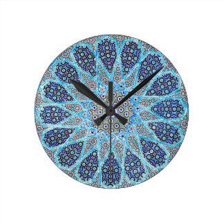 Blue Orient Round Clock