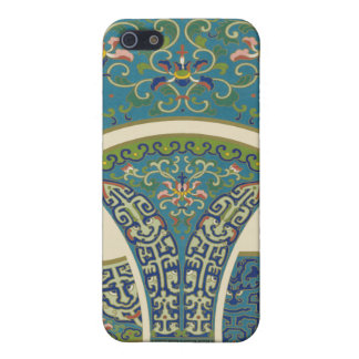 Blue Oriental Designs with Smiling Faces Case For iPhone 5/5S
