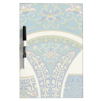 Blue Oriental Designs with Smiling Faces Dry Erase Board