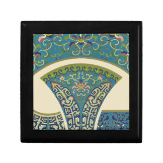 Blue Oriental Designs with Smiling Faces Gift Box