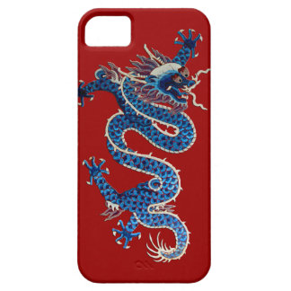 Blue oriental dragon antique Chinese embroidery iPhone 5 Covers