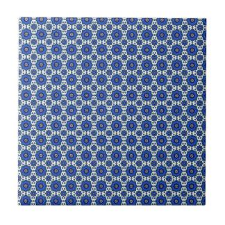 Blue oriental pattern tiles