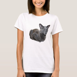 Blue Oriental Shorthair Cat T-shirt