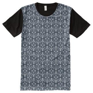 Blue ornamental Pattern All-Over Print T-Shirt