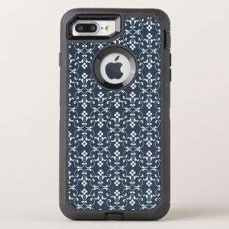 Blue ornamental Pattern OtterBox Defender iPhone 8 Plus/7 Plus Case