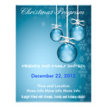 Blue Ornaments and Snowflakes Program Flyer