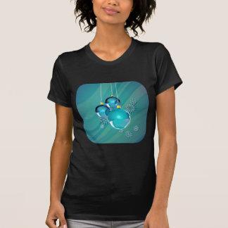 BLUE ORNAMENTS & SNOWFLAKES by SHARON SHARPE T-Shirt